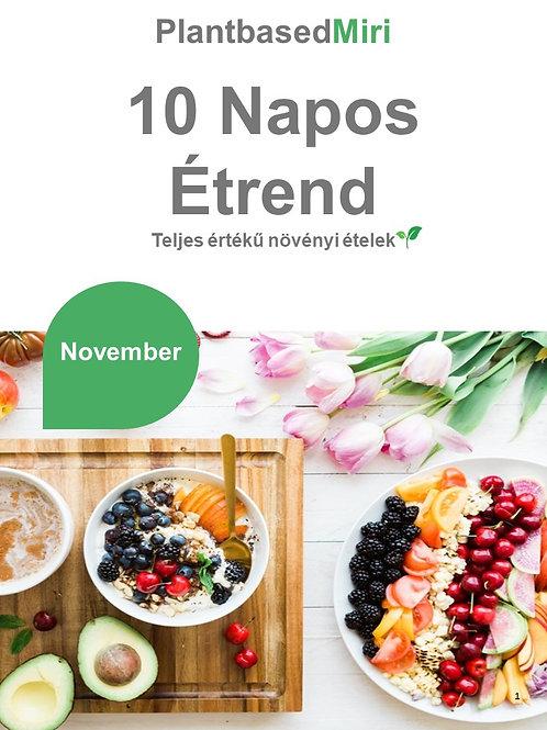 Novemberi 10 napos étrend