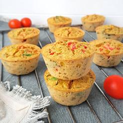 Zöldséges frittata muffin