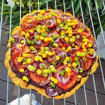 Red lentil pizza