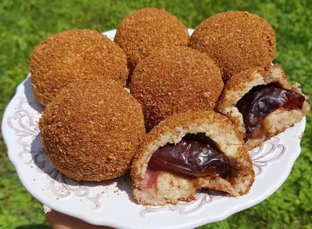 Hungarian plum dumplings - Vegán szilvás gombóc teljes értékűen