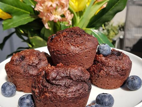 Vegan chocolate-blueberry muffins / Vegán csokis-áfonyás muffin
