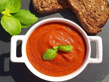 Sült paradicsomleves Jamie Oliver receptje alapján