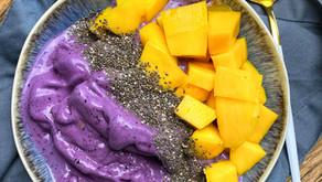 2-Minute Blueberry Nice Cream / 2 Perces Házi Áfonyafagyi