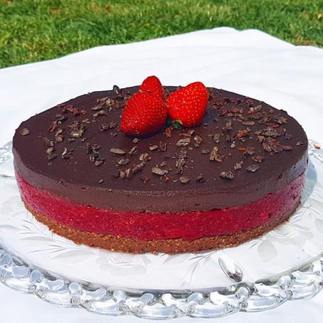 Csokis-Málnás Vegán Álomtorta
