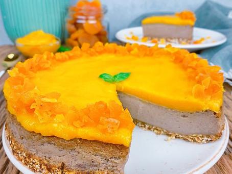Gluten-free Vegan Apricot-Citrus Cream Cake /Gluténmentes Vegán Sárgabarackos Citrusos Krémtorta