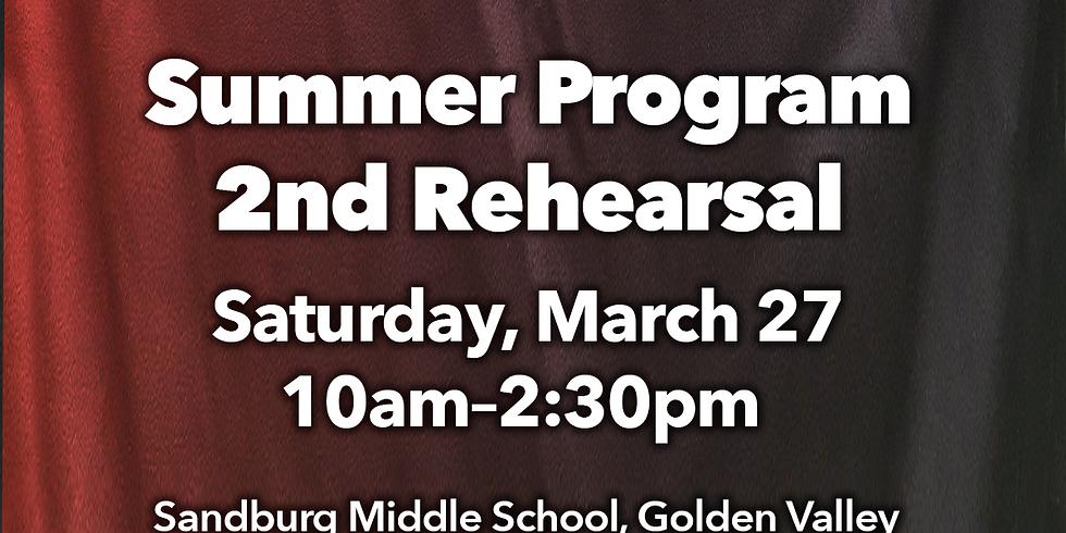 Summer Program: 2nd Rehearsal