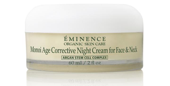 Crème Anti-Âge Nuit Visage et Cou au Monoï