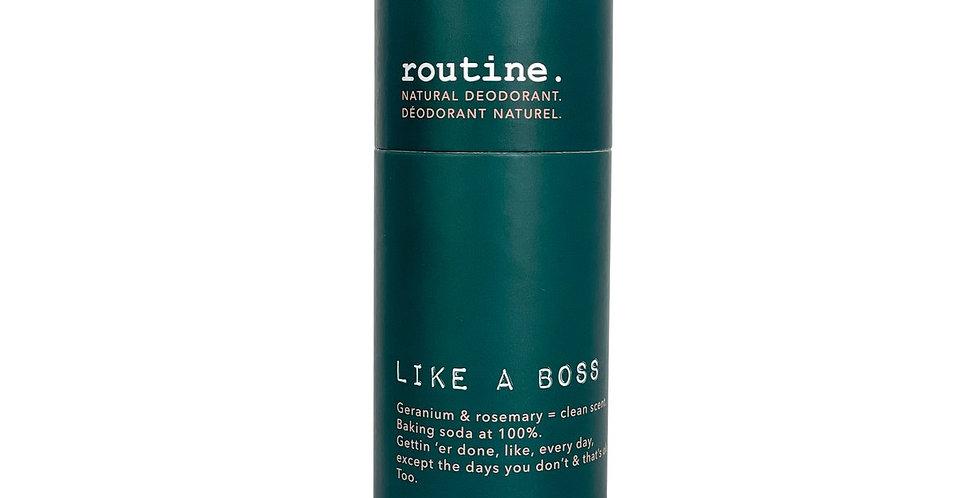 Déodorant en baton routine like a boss