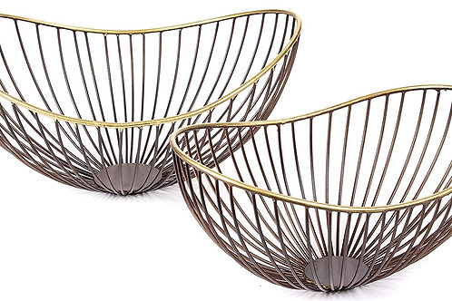 Red Fig Home - Decorative Metal Wire Bowls (Set of 2)