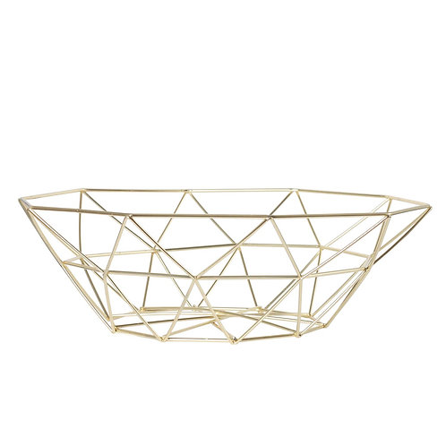 Metal Wire Bowl - Gold Finish