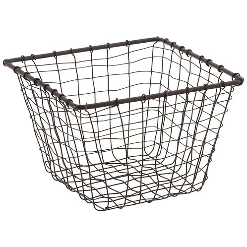 "Wire Marche Basket Small (Square) 7"" x 7"" x 5"""