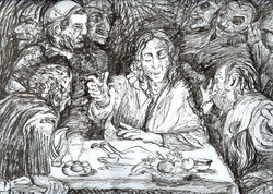 Study of Supper at Emmaus.