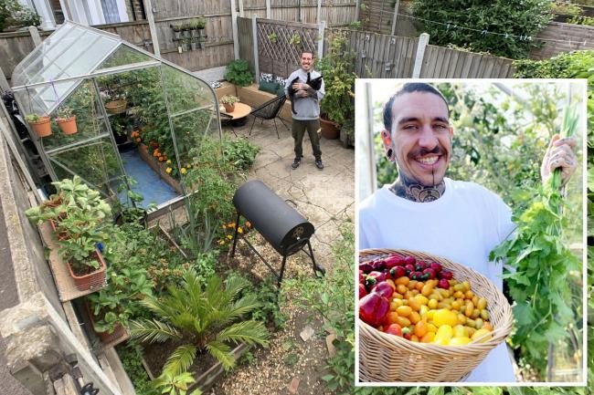 Allesandro Vitale in his small garden