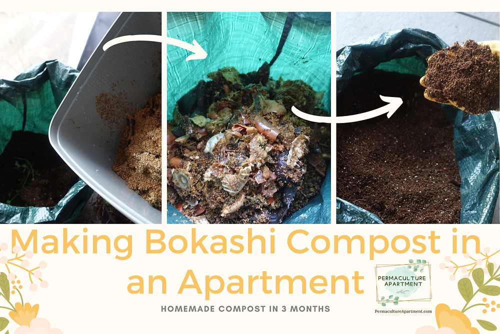 Turning food scraps into soil with bokashi bin compost