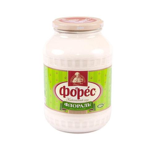 """Майонезный соус """"Флораль"""" 60% 1400 г стекло ТМ Форес"""