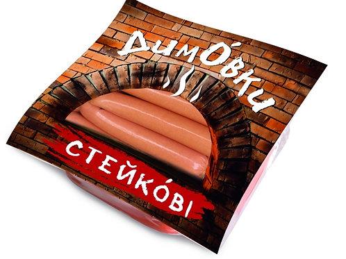 """Сосиски 1/с """"Стейковые"""" 1кг ТМ Дымовки"""