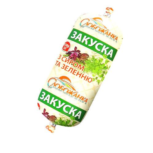 Закуска с сыром и зеленью 150г полиамид ТМ СЛОБОЖАНКА