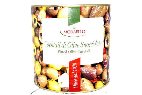 Оливки коктейльные без кости ж/б 2.5 кг ТМ Schiacciatei