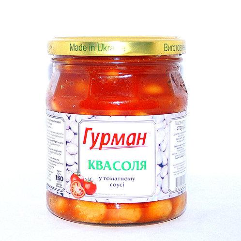 Фасоль в томате консервированная 480 г ТМ Гурман