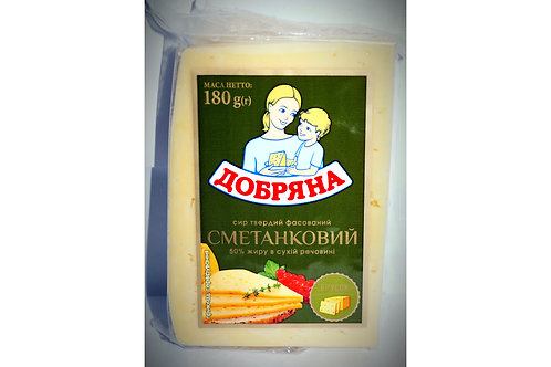 "Сыр ""Сметанковый""  50% 180 г фас ТМ Добряна"