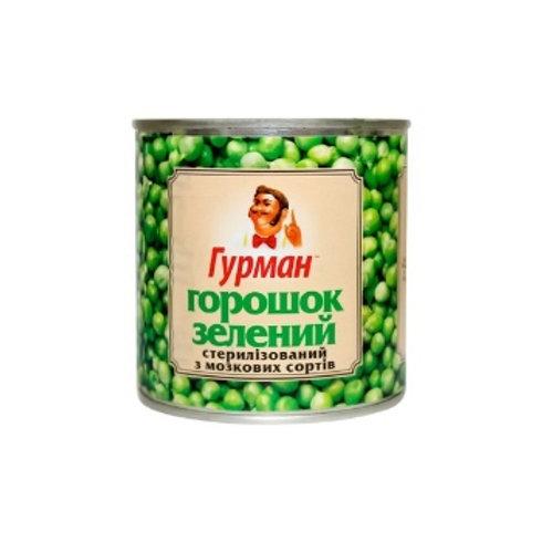 Горошек зеленый консервированный 460 г ТМ Гурман