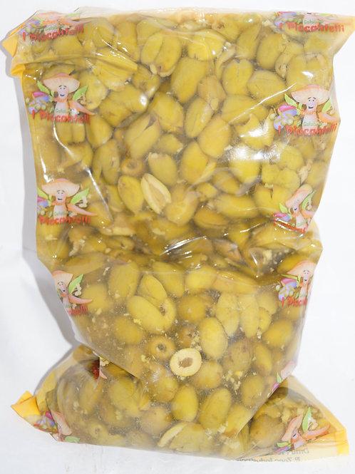 Оливки зеленые без кости 2.3 кг пленка ТМ Verdi Snocc.Etna