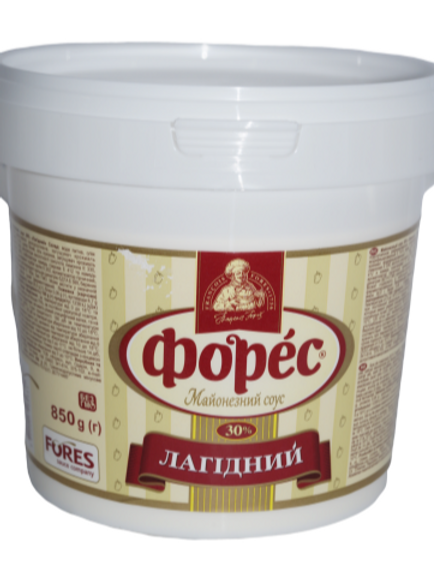 "Майонезный соус ""Легкий"" 30% 850 г ведро ТМ Форес"