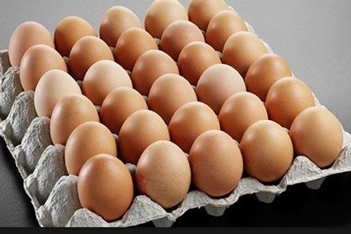 Яйцо куриное фермерское  С1 лоток (30шт)