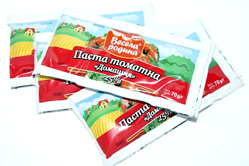"Томатная паста ""Домашняя"" 25% 70 г стик ТМ Весела Родина"