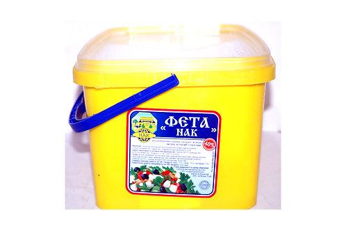 """Продукт """"Фета"""" молокосодержащий в рассоле 40% 5 кг ведро ТМ НАК"""