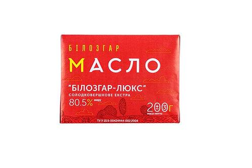 """Масло """"Люкс"""" 80.5% 200 г ТМ Білозгар"""