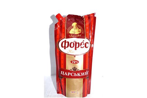 """Майонез """"Царский"""" 72% 580 г ТМ Форес"""