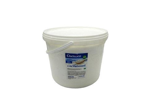 Продукт молокосодержащий сметанный 15% 10 кг ведро ТМ Пані Хуторянка