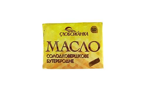 "Масло солодковершкове ""Бутербродне""  72,4% 200г ТМ Слобожанка"