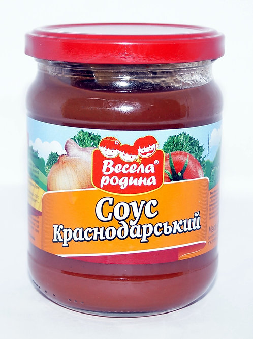 "Соус ""Краснодарский"" 500 г стекло ТМ Весела Родина"