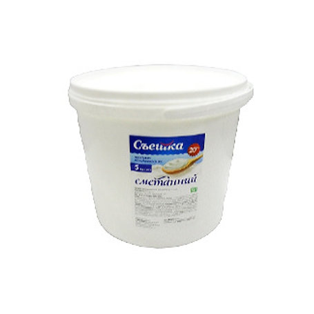 Продукт молокосодержащий сметанный 20% 5 кг ведро ТМ Пані Хуторянка