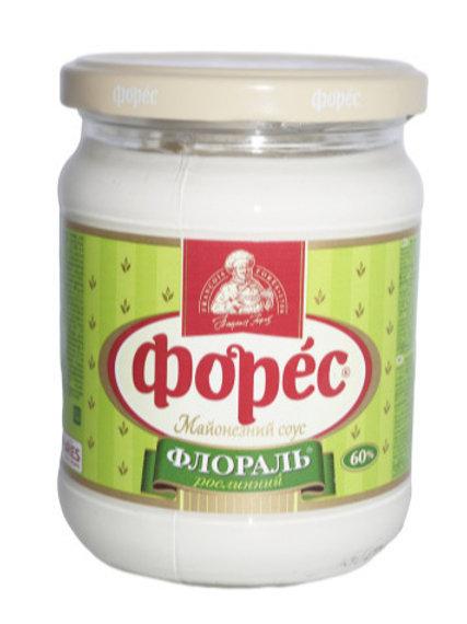 """Майонезный соус """"Флораль"""" 60% 440 г стекло ТМ Форес"""