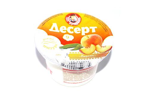 Десерт фруктовый творожный с персиком 9% 200 г ТМ Пані Хуторянка