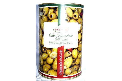 Оливки зеленые без кости ж/б 4.25 кг Dell'etna ТМ Schiacciatei
