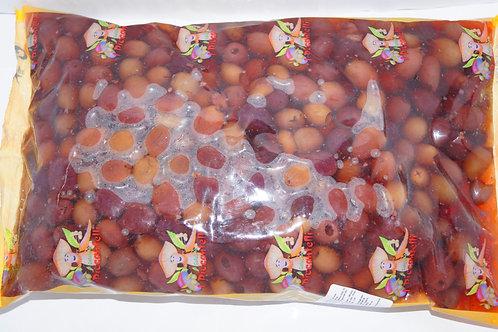 Оливки Kalamata черные с костью 2.3 кг пленка ТМ Schiacciatei