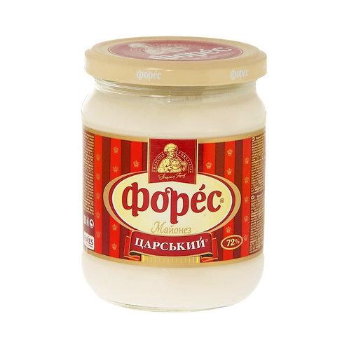 "Майонез ""Царский"" 72% 440 г стекло ТМ Форес"