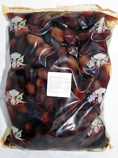 Оливки черные без кости 2.3 кг пленка  TM Leccine Snocciolate