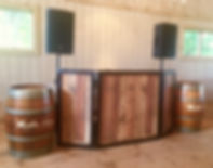 East End Entertainment DJ Rustic wedding