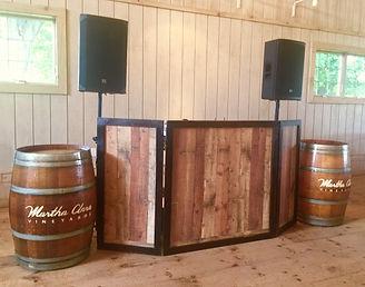East End Entertainment DJ Rustic wedding