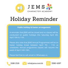 Public Holiday & Easter Arrangements