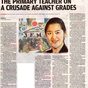 South China Morning Post: The Primary Teacher on a crusade against grades