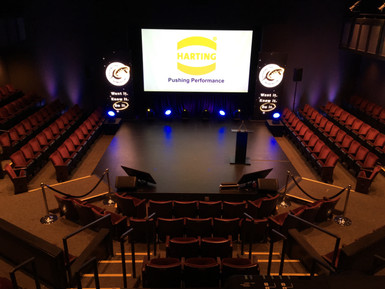 HARTING Annual Conference (Sound, Lighting, Video Projection, LED Video, Pipe & Drape)
