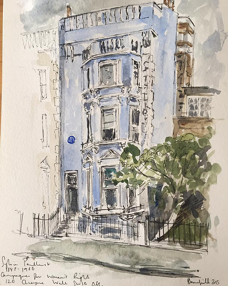 Sylvia Pankhurst Blue Plaque