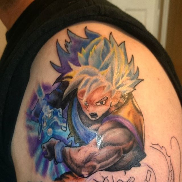 Dragonballz Goku Colortattoos Colortattoo Tattoo Dragonball