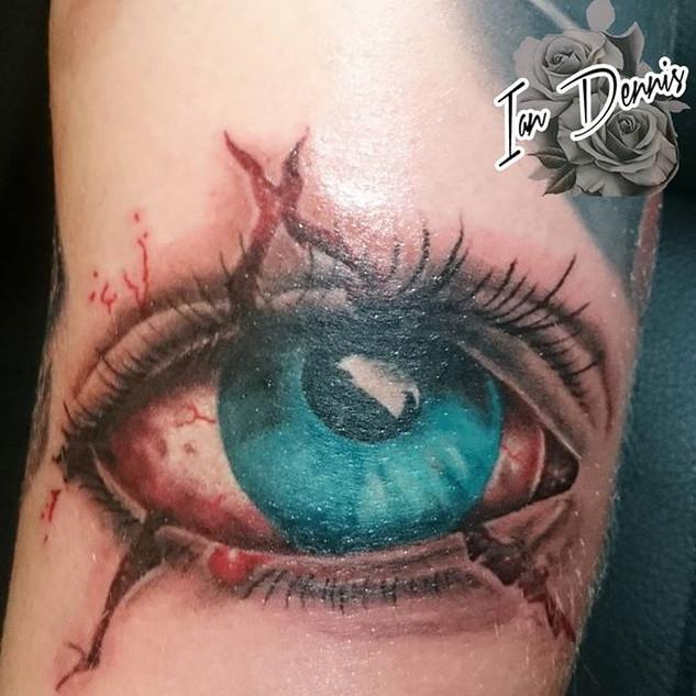 #eye #eyetattoo #tattoo #tattooed #color